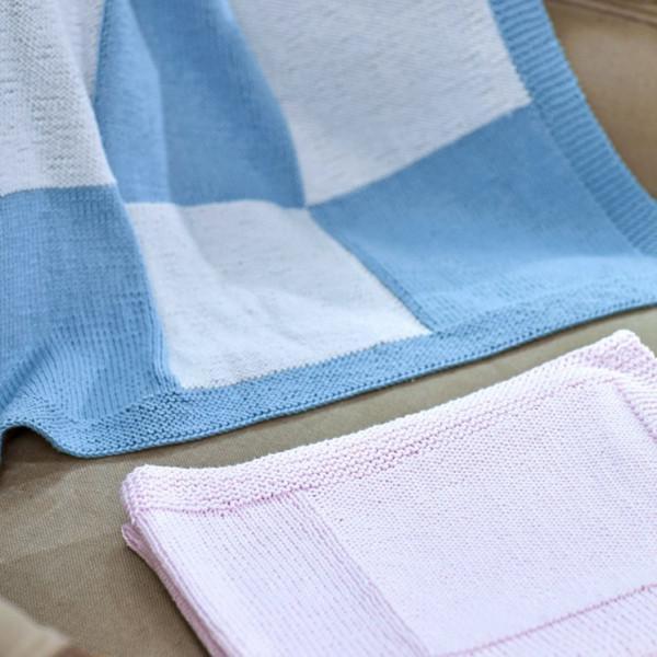 Baby Blanket Pattern in DMC® 100% Baby Cotton