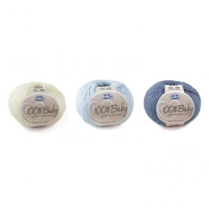 DMC 100% Baby Wool Yarn Color Pack (Baby Blue Shades)