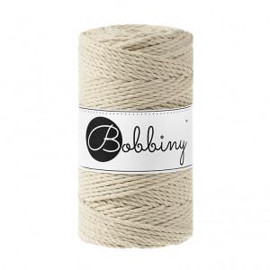 (PREORDER) Bobbiny Premium Macramé Rope, Beige, 3 mm.