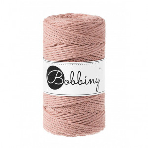 Bobbiny® Premium Macramé Rope, Blush, 3 mm.