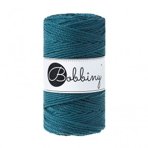 Bobbiny® Premium Macramé Rope, Peacock Blue, 3 mm.