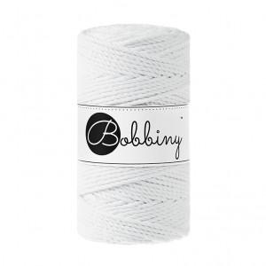 Bobbiny® Premium Macramé Rope, White, 3 mm.