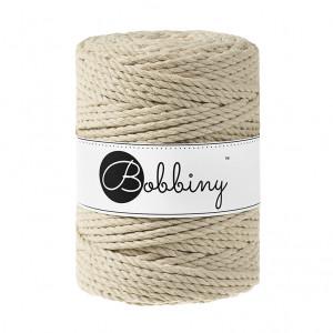 Bobbiny® Premium Macramé Rope, Beige, 5 mm.