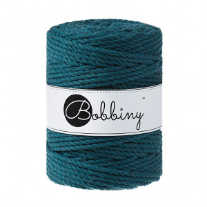 Bobbiny® Premium Macramé Rope, Peacock Blue, 5 mm.