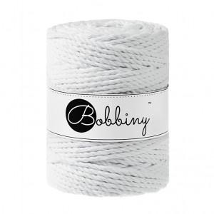 Bobbiny® Premium Macramé Rope, White, 5 mm.