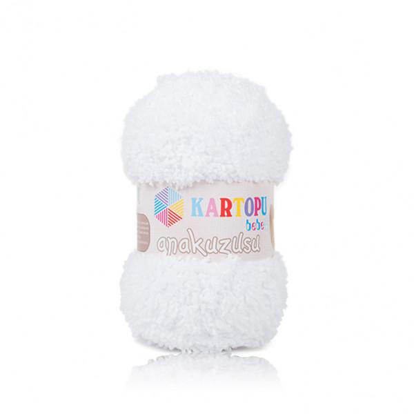 Kartopu® Anakuzusu Baby Yarn - White (K010)