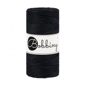 Bobbiny Premium Macramé String, Black, 3 mm.