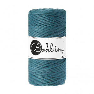 Bobbiny® Premium Macramé String, Peacock Blue, 3 mm.