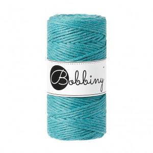 (PREORDER) Bobbiny Premium Macramé String, Teal, 3 mm.