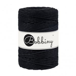Bobbiny Premium Macramé String, Black, 5 mm.