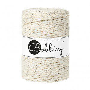 (PREORDER) Bobbiny Premium Macramé String, Golden Natural, 5 mm.