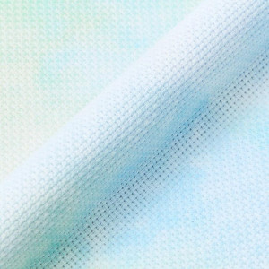 DMC Printed Aida Cross Stitch Fabric, Flat Pack, 14ct, 100 cm. x 110 cm. (Morning Dew 747)