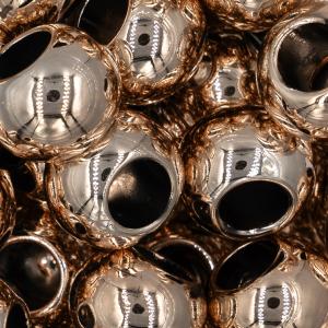 Handmayk Beads, 12 mm., Shiny Rose Gold, Oval, Pack of 22