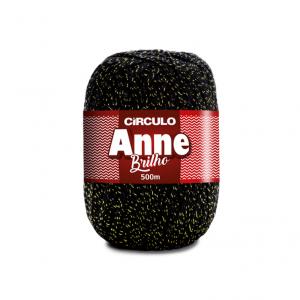 Circulo Anne Brilho Yarn - Preto (8990)