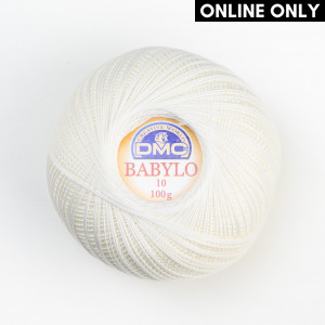 DMC Babylo No. 10 Crochet Thread (Blanc)