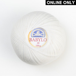 DMC Babylo No. 20 Crochet Thread (Blanc)