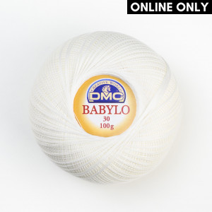 DMC Babylo No. 30 Crochet Thread - Blanc