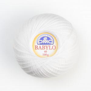 DMC Babylo No. 40 Crochet Thread (Blanc)