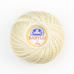 DMC Babylo No. 5 Crochet Thread - Ecru