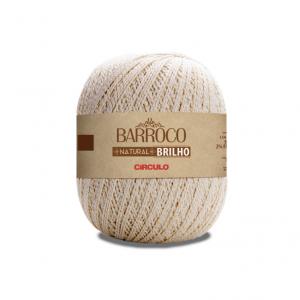 Circulo Barroco Natural Brilho Ouro 4/4 Yarn - Natural (20)