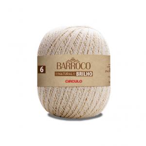 Circulo Barroco Natural Brilho Ouro 4/6 Yarn - Natural (20)
