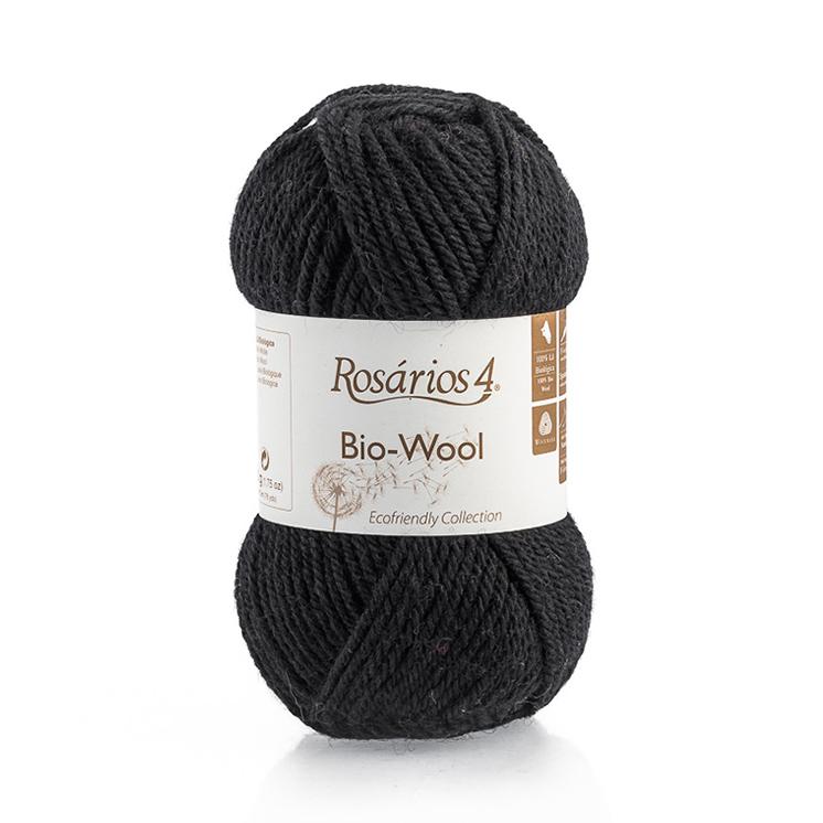 Rosarios 4® Bio-Wool Yarn Black (19) at Yarns Dubai