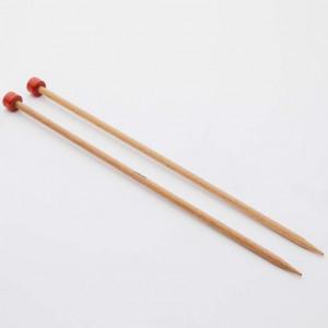 KnitPro 30 cm. Basix Birch Single Point Knitting Needles - 6 mm.