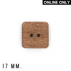 17 mm. Wood Buttons, Pack of 8, Square