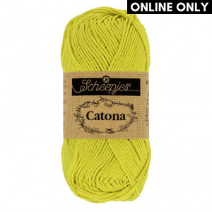 Scheepjes Catona Yarn - Green Yellow (245)