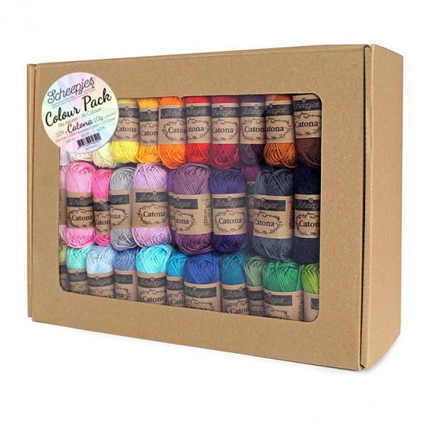 Scheepjes® Catona 100% Cotton Yarn - 109 Skein (10 gr.) Color Pack