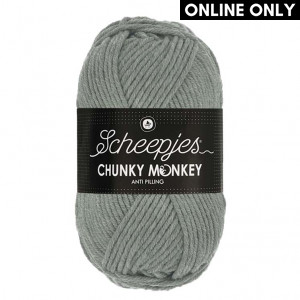 Scheepjes Chunky Monkey Anti Pilling Yarn - Mid Grey (1099)