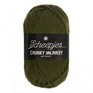 Scheepjes® Chunky Monkey Anti Pilling Yarn - Moss Green (1027)