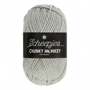 Scheepjes Chunky Monkey Anti Pilling Yarn - Pale Grey (1203)