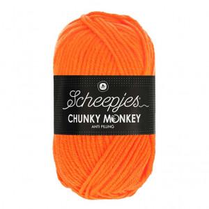Scheepjes Chunky Monkey Anti Pilling Yarn - Neon Orange (1256)