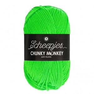 Scheepjes® Chunky Monkey Anti Pilling Yarn - Neon Green (1259)