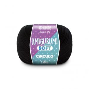Circulo Amigurumi Soft Yarn - Preto (8990)