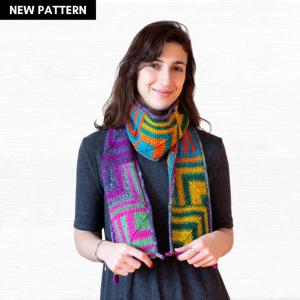Pixelated Scarf Knitting Pattern