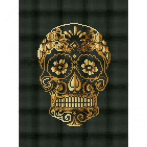 Handmayk Premium Diamond Art Kit - Golden Skull
