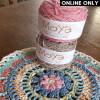 MoYa® Organic Cotton DK Whisper Yarn - Misty Rose