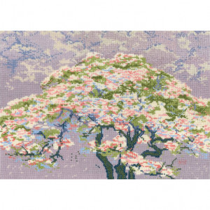 DMC Counted Cross Stitch Kit - A Tree in Blossom by William Giles