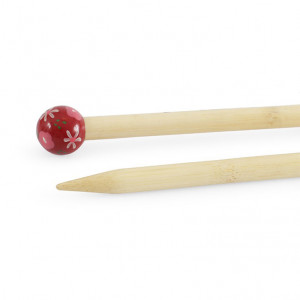"DMC® 16"" Bamboo Single Point Knitting Needles - 10 mm."