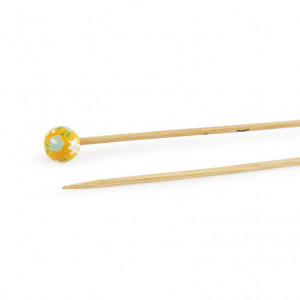 "DMC® 16"" Bamboo Single Point Knitting Needles - 3 mm."