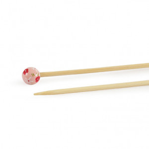 "DMC® 16"" Bamboo Single Point Knitting Needles - 4 mm."