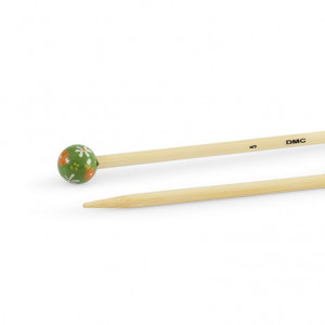 DMC 40 cm. Bamboo Single Point Knitting Needles - 5 mm.