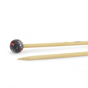 "DMC® 16"" Bamboo Single Point Knitting Needles - 6 mm."