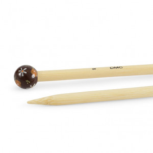 "DMC® 16"" Bamboo Single Point Knitting Needles - 9 mm."