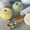 DMC® 40 cm. Bamboo Single Point Knitting Needles - 8 mm.