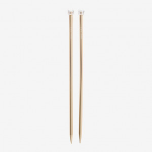 DMC 40 cm. Rose Gold Aluminium Single Point Knitting Needles - 10 mm.