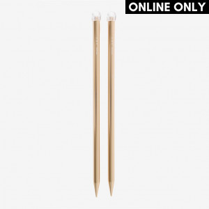 DMC 40 cm. Rose Gold Aluminium Single Point Knitting Needles - 15 mm.