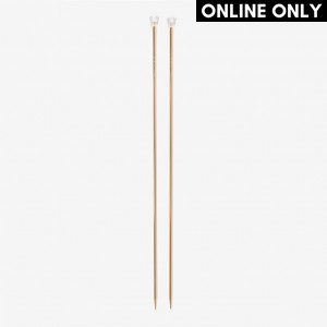 DMC 40 cm. Rose Gold Aluminium Single Point Knitting Needles - 5 mm.